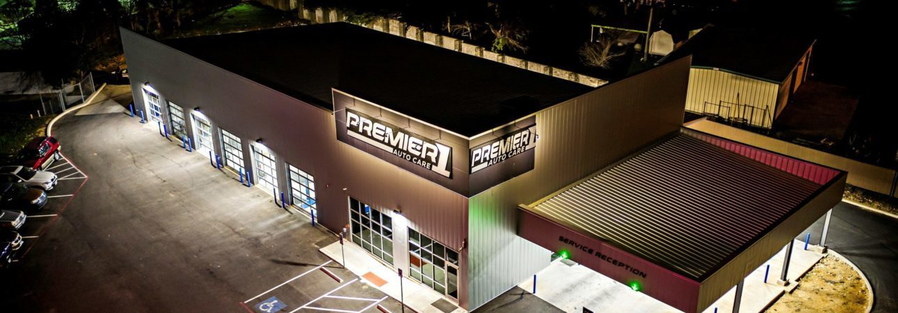 Premier 1 building at night