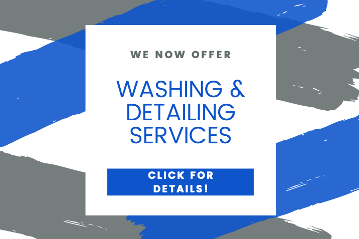 we now offer washing and detailing services